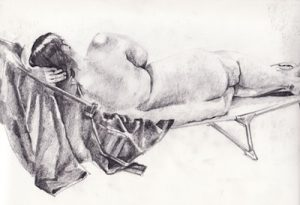 beginners life drawing class, working directly from the model, liverpool, southport, merseyside