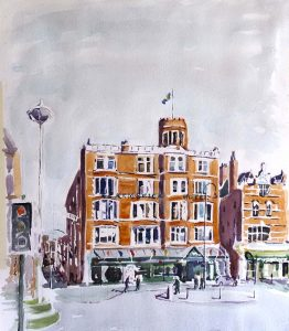 watercolour classes for beginners on merseyside, southport, by artist roy munday