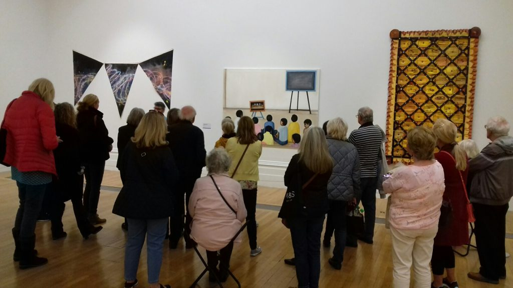 members at the walker art gallery, liverpool, learning new painting ideas