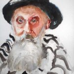iley repind's painting, the old jew. a watercolour version done by artist roy munday. teaches art classes on merseyside and lancashire